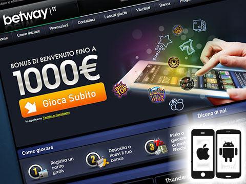 Betway per Android, iPhone e iPad