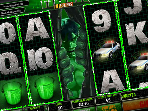 Slot machine L'Incredibile Hulk