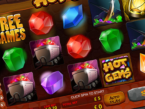 Hot Gems, slot machine Playtech